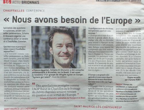 Journal de Saône-et-Loire: « Nous avons besoin de l'Europe »