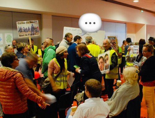 Retour en Ardèche: débat intense avec des gilets jaunes d'Aubenas
